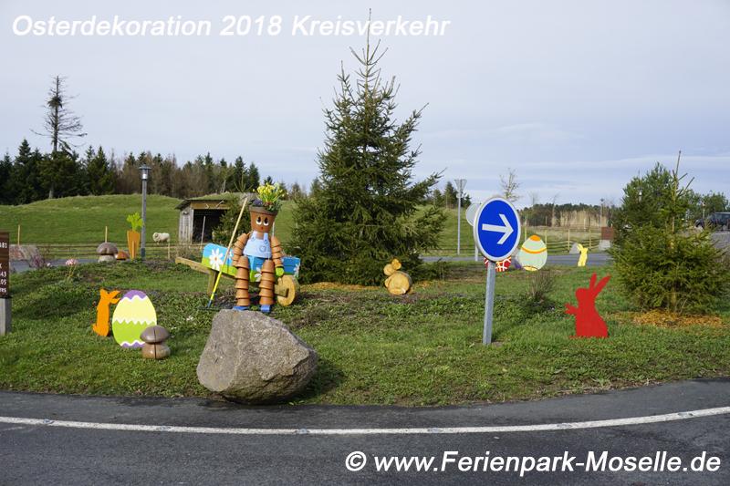 Kreisverkehr Osterdeko